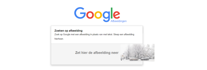 reverse image search afbeelding slepen
